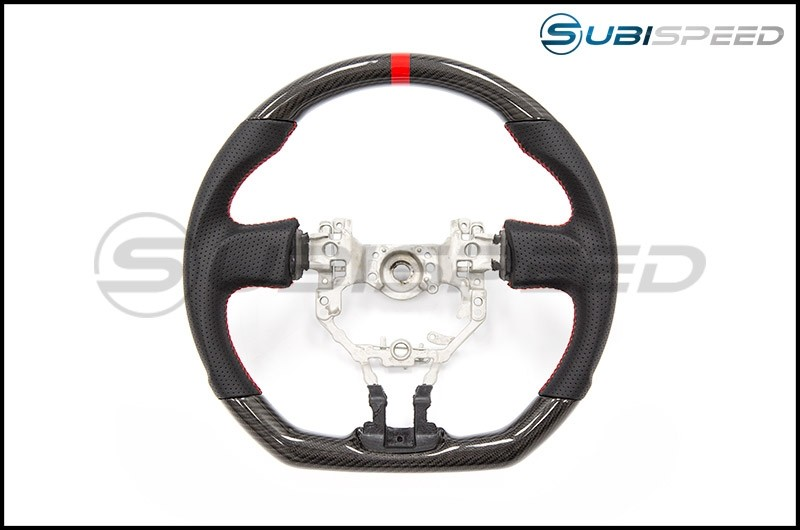 FT-86 SpeedFactory Carbon Fiber Red Stitching Steering Wheel
