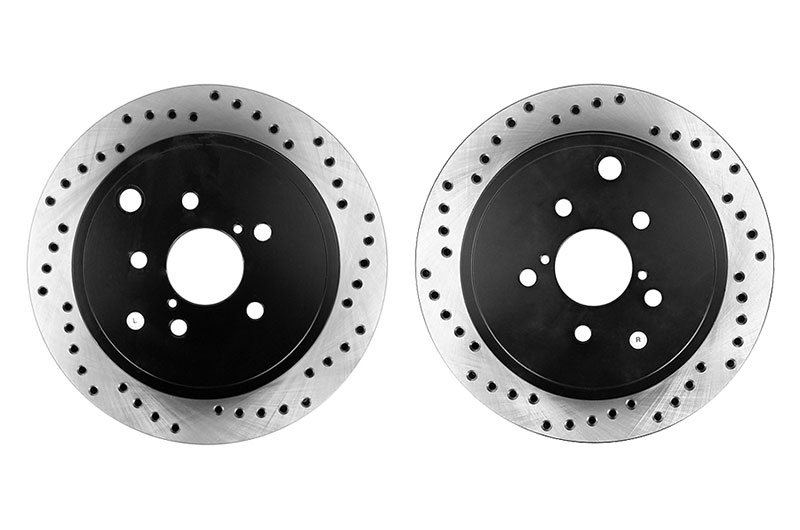 Stoptech Drilled Rear Rotor Pair