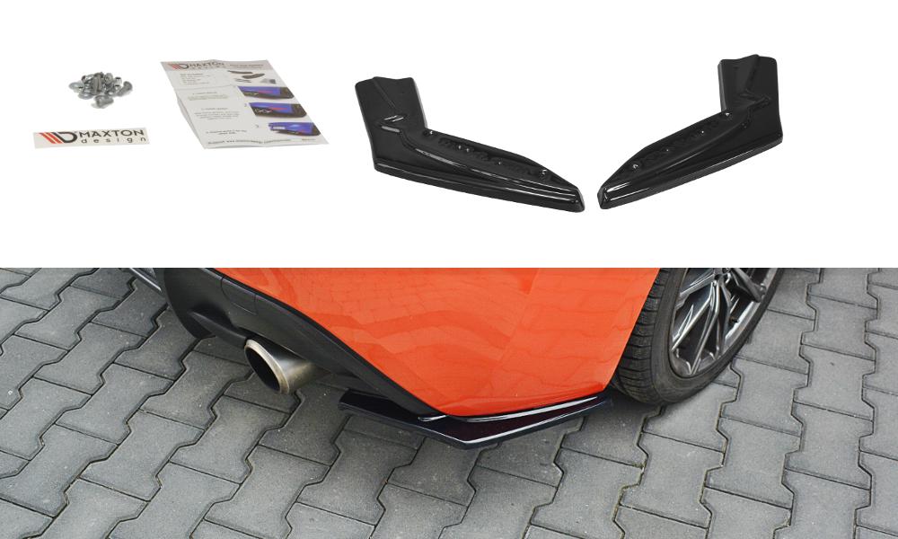 Maxton Design Gloss Black Rear Side Splitters V1
