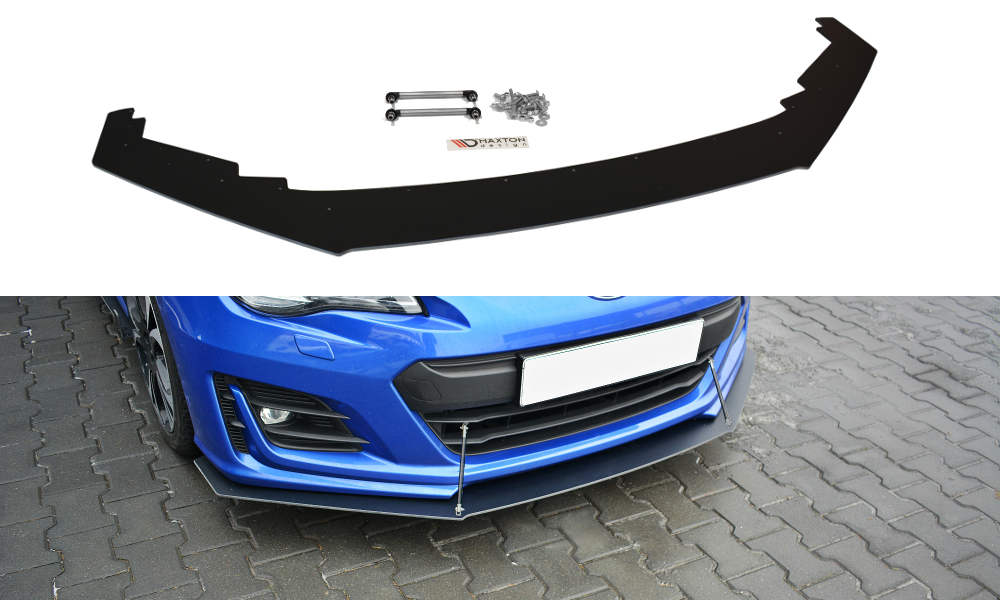 Maxton Design Gloss Black Racing Front Splitter V1