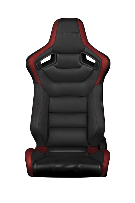 Braum Elite Series Racing Seats (Black & Red) - Universal