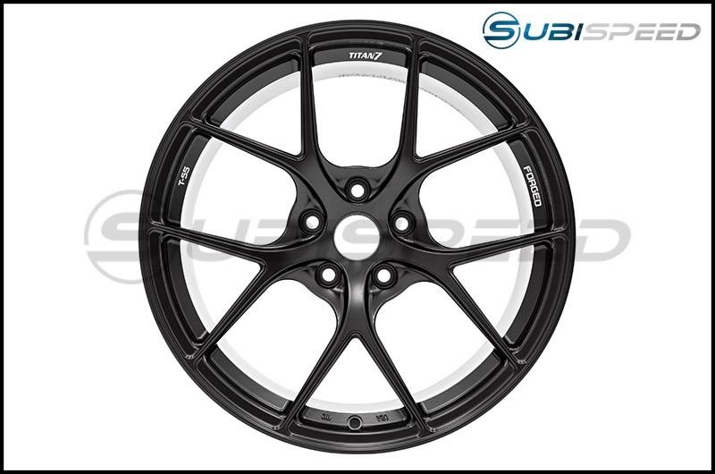 Titan 7 T-S5 Machine Black 18x9.5 +40 - 2013+ FR-S / BRZ / 86 / 2014+ Forester