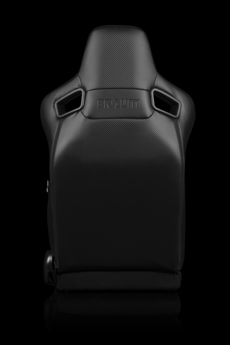 Braum Elite-S Series Sport Seats - Black & Red Plaid (Red Stitching) Pair - Universal