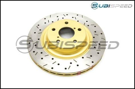 DBA Front / Rear Slotted and Drilled T3 Rotors : Front Rotors (DBA4650XS) - 2002-2014 WRX