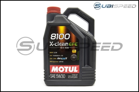 Motul 5L JUG Synthetic Engine Oil 8100 5W30 X-CLEAN EFE