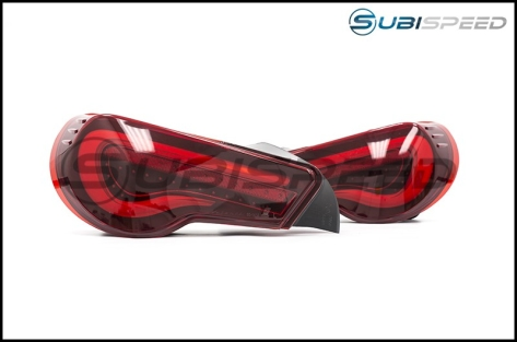 OLM VL Style / Helix Sequential Red Lens Tail Lights (Red Edition) - 2013+ FR-S / BRZ