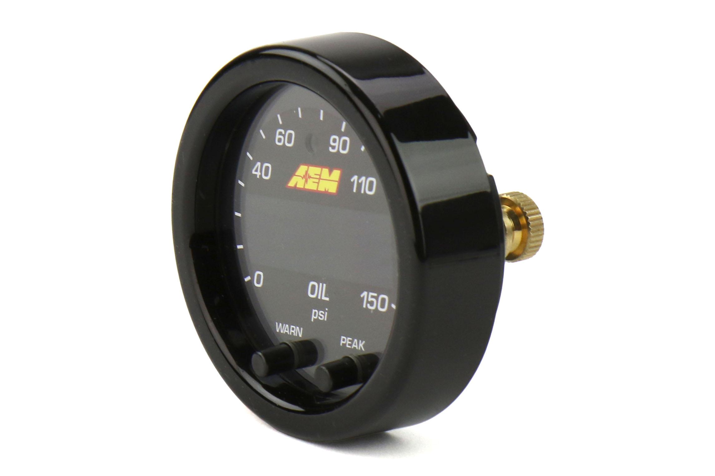 AEM X Series 30-0307 Universal Oil Pressure Gauge 0-150psi 52mm
