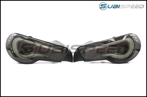 OLM VL Style / Helix Sequential Smoked Lens Tail Lights (Black Gold Edition) - 2013+ FR-S / BRZ