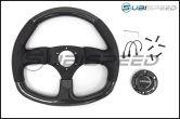 NRG 315mm Carbon Fiber Steering Wheel Red Stitching - Universal