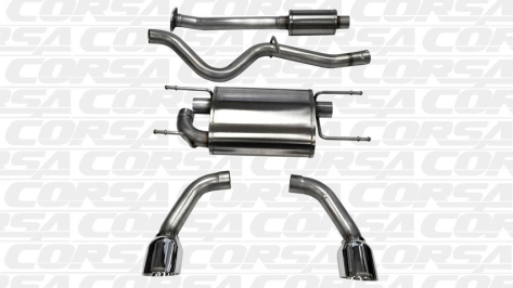 Corsa Cat Back Exhaust (Stainless) - 2013+ FR-S / BRZ