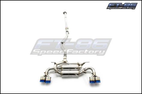MXP SP Quad Tip Catback Exhaust System for TRD - 2013+ FR-S / BRZ / 86