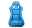 NRG Innovations FRP Bucket Seat ULTRA Edition with peralized back, Blue Alcantara material - Universal