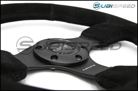 NRG Race Style Suede Steering Wheel 320mm w/ Black Stitching