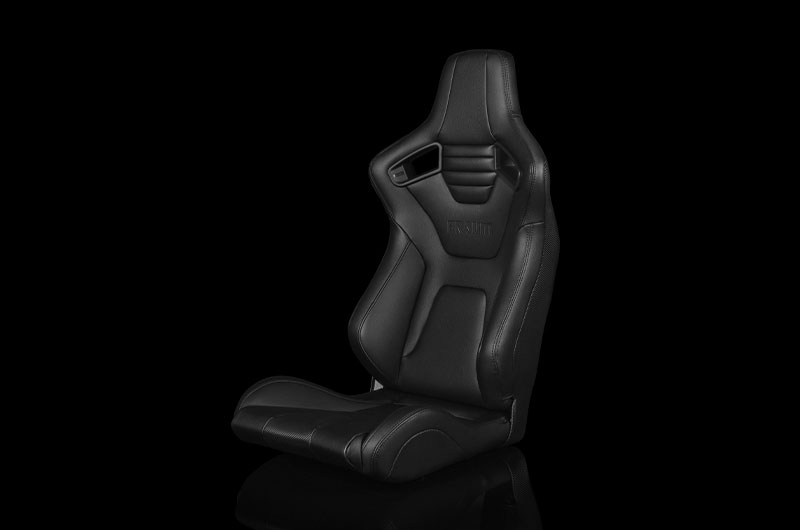 Braum Elite-X Series Fixed Back Sport Seat - Black Leatherette (Black Stitching) Each