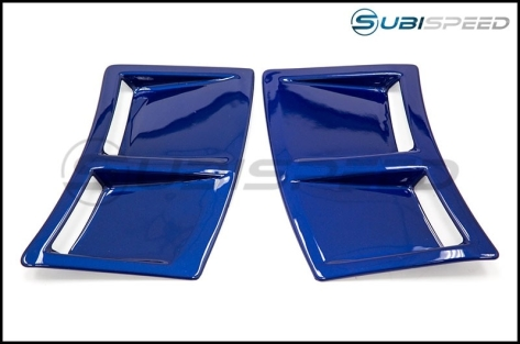 OLM S207 Style Paint Matched Rear Bumper Vent Inserts - 2015+ WRX / 2015+ STI