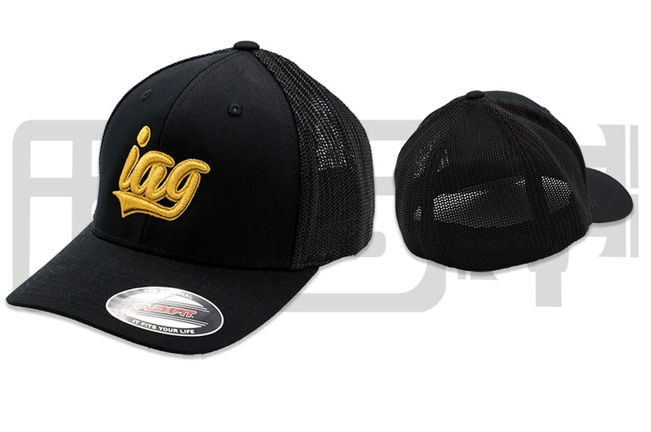 IAG Performance IAG Flexfit Trucker Hat w/ IAG Gold Script