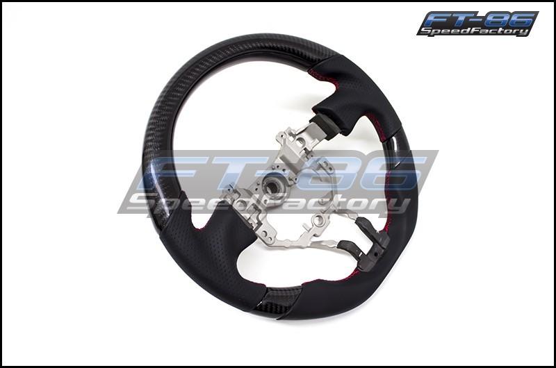 OEM Fit Black Carbon Fiber / Leather Steering Wheel