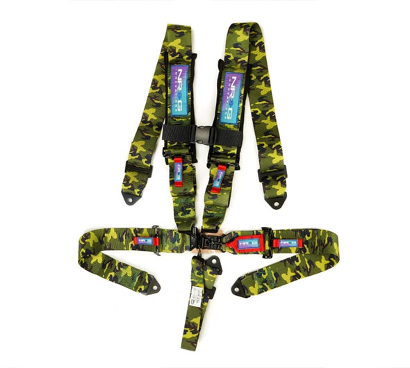 NRG Innovations SFI Seat Belt Harness with Pads and Link Latch