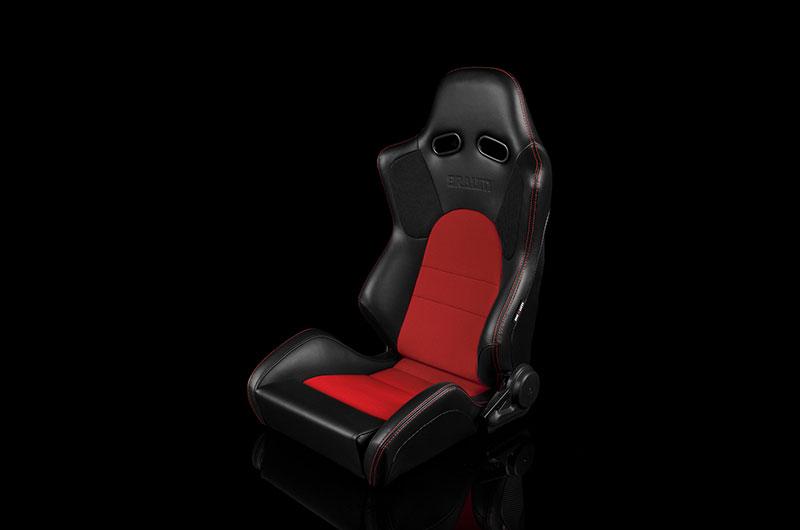 Braum Advan Series Racing Seat (Black & Red)