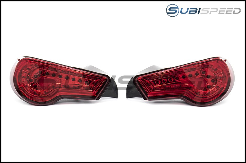 Winjet Tail Lights (Chrome w/ Red Lens)