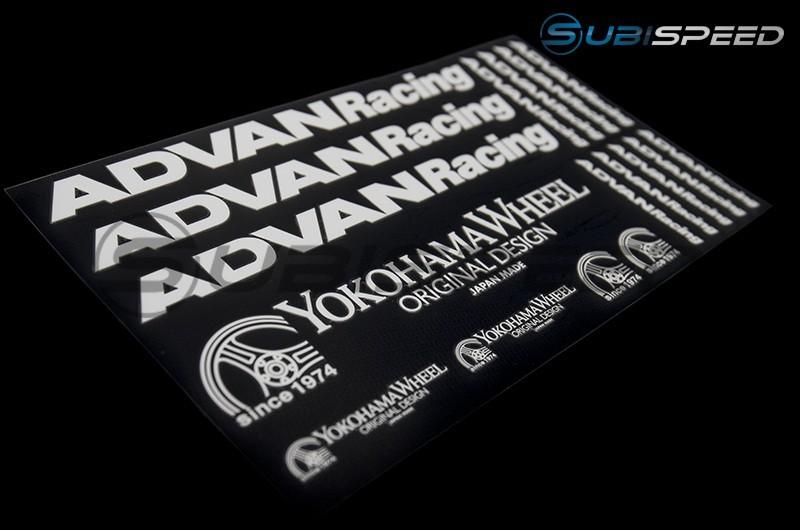 Advan Racing Sticker Sheet