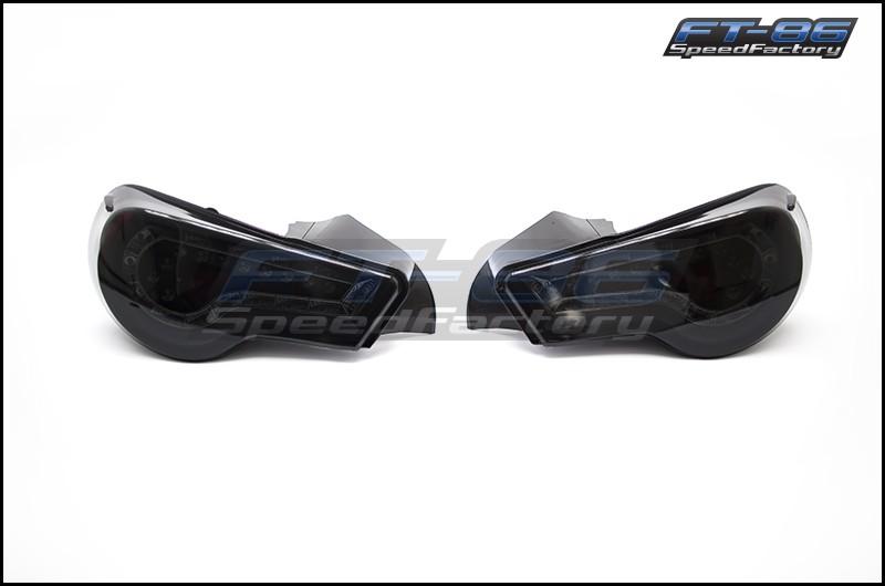 Winjet Tail Lights (Black w/ Smoked Lens)