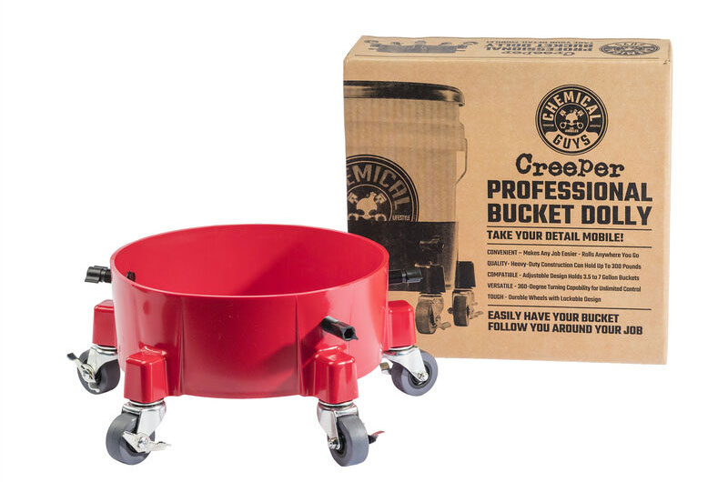 Chemical Guys Creeper Professional Bucket Dolly (RED)