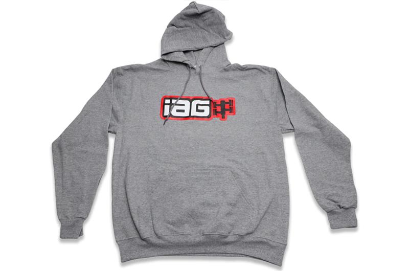 IAG Performance IAG Boxer Logo Hoodie - Grey