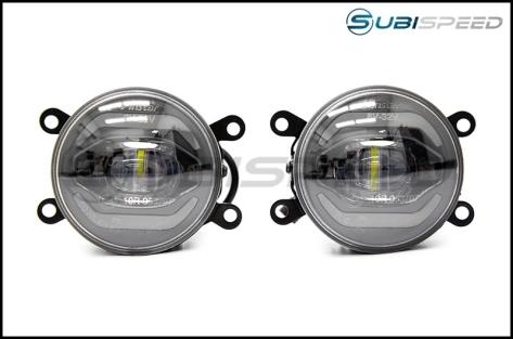 OLM Retical Style LED Fog Lights - 15+ WRX / 15-17 STI / 13-16 BRZ / 13+ Crosstrek / 14+ Forester / 2013-2016 FR-S / BRZ / 86
