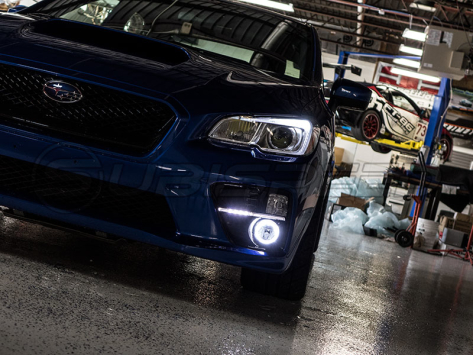 OLM LED / Halo DRL Fog Light Housings - 15+ WRX / STI / 13-16 BRZ /  14-18 Forester / 13-17 Crosstrek / 13-16 FR-S / BRZ / 86
