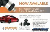 Deatschwerks 450cc Fuel Injectors - 2013+ FR-S / BRZ / 86