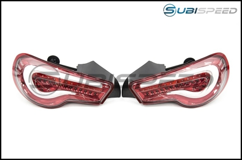 OLM VL Style / Helix Non-Sequential Lens Tail Lights (Clear Lens, Red Base) - 2013+ FR-S / BRZ