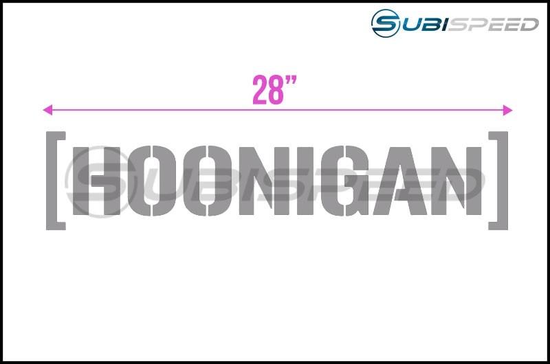 HOONIGAN Large Die Cut Cbar Sticker Gray 28