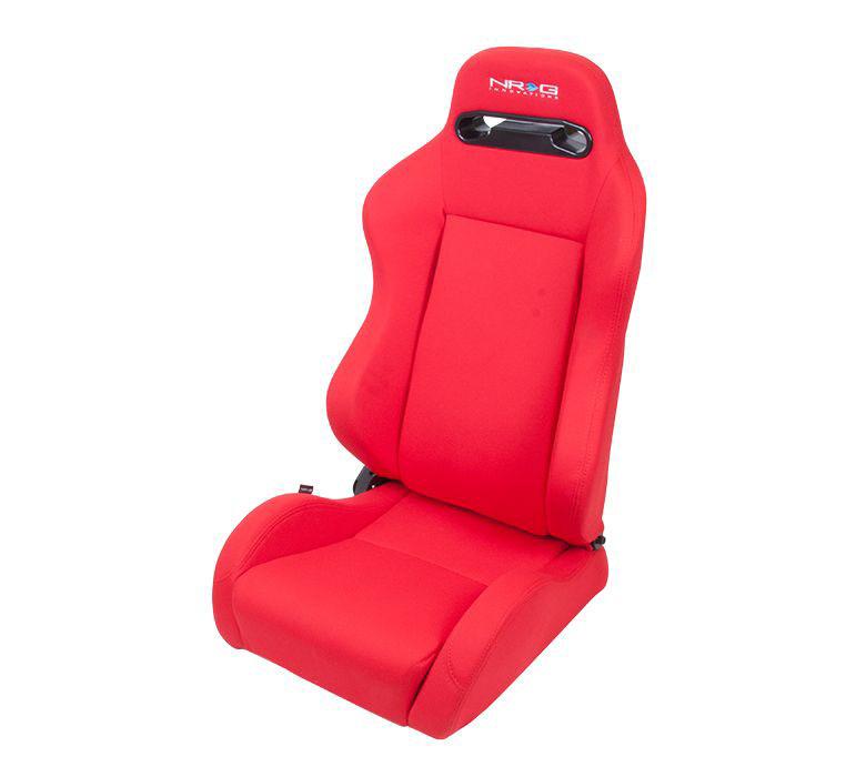 NRG Innovations Type-R Cloth Sport Seat Red w/ Red Stitch w/ logo