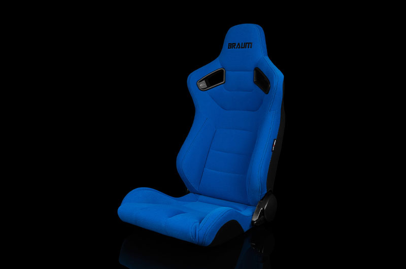 Braum Elite Series Sport Seats - Blue Cloth (Black Stitching) Pair