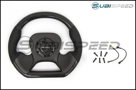 NRG Carbon Fiber Steering Wheel 320mm Carbon Fiber Center Plate - Universal