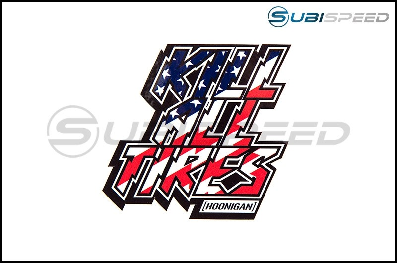 HOONIGAN Kill All Tires Sticker, Red, White and Blue