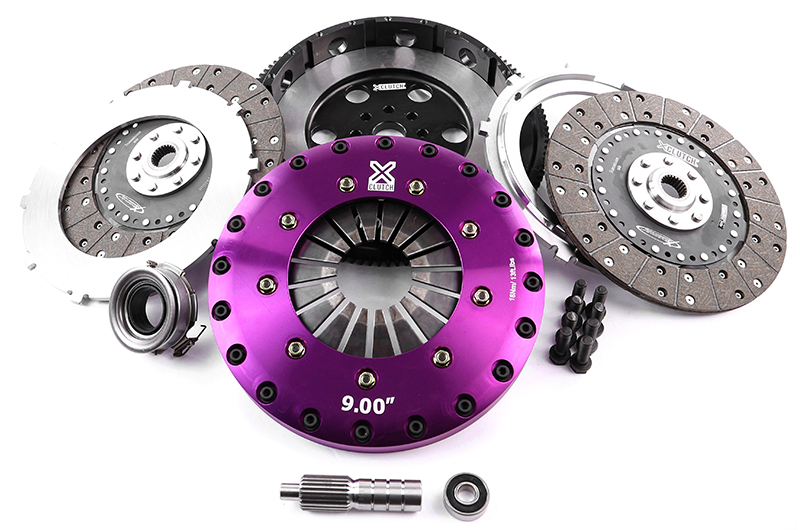 XClutch 9in Rigid Twin Solid Plate Organic Clutch Kit