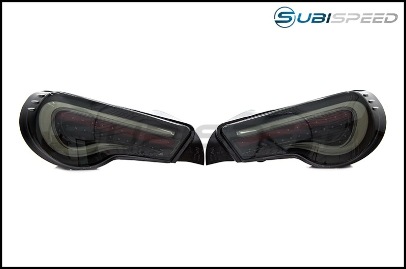 OLM VL Style / Helix Sequential Smoked Lens Black Housing with White Bar Tail Lights