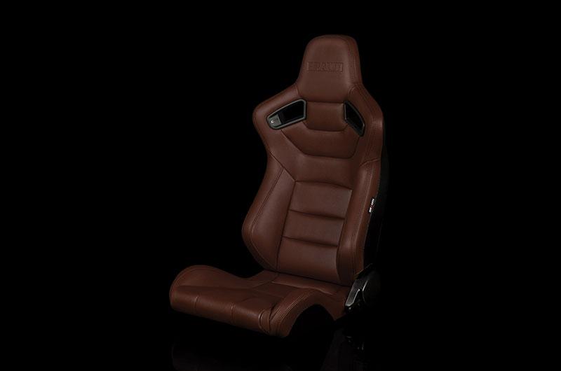 Braum Elite Series Sport Seats - Brown Leatherette Pair