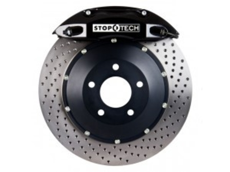 Stoptech 355x32 Big Brake Kit Drilled / Black (Front)