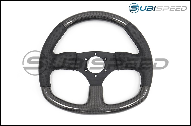NRG Flat Bottom Carbon Fiber Steering Wheel 320mm Carbon Fiber Center Plate