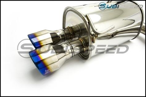 Invidia 15+ Subaru WRX/STI 4Dr Q300 Twin Outlet Rolled Titanium Burnt Quad Tip Cat-Back Exhaust