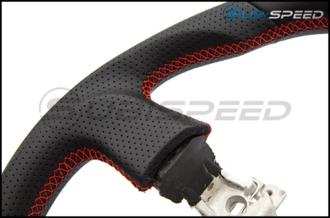 FT86 SpeedFactory Leather with Red Stitching Steering Wheel - 2013-2016 FR-S / BRZ / 86