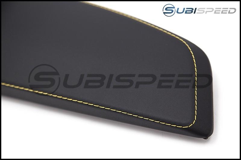 Subaru OEM Leatherette Dash Trim with Yellow Stitching
