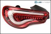 Valenti Jewel LED Tail Light (Clear Lens, Red Chrome Inner Reflector) - 2013+ FR-S / BRZ / 86