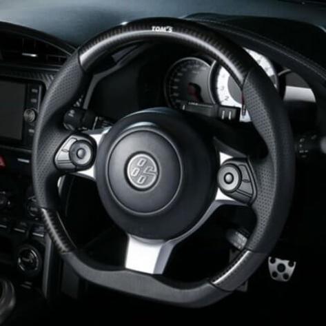 TOM'S Carbon Fiber / Leather Steering Wheel