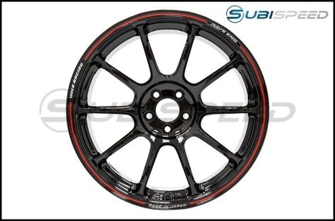 Volk Time Attack ZE40 Black / Red 18x9.5 +42 - 2013+ FR-S / BRZ / 86 / 2014+ Forester