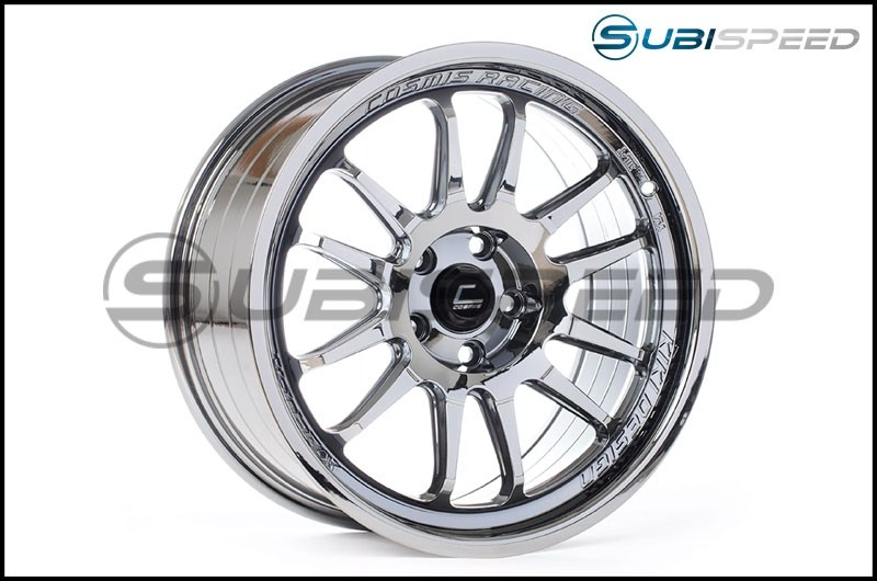 Cosmis Racing XT-206R 18x9 +33mm Black Chrome - 2015+ WRX / 2015+ STI