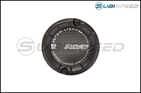 Gram Lights 57 Transcend Black Center Cap for 5x100 Wheels - 2013+ FR-S / BRZ / 86